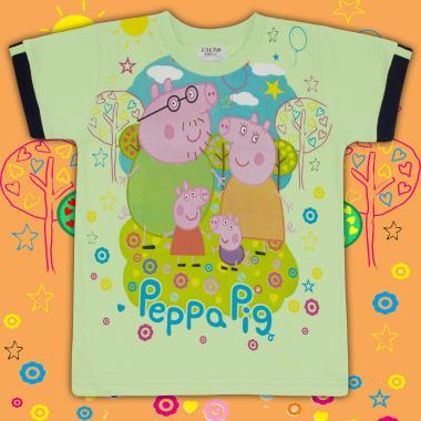 Тениска Прасето Пепа  в резеда