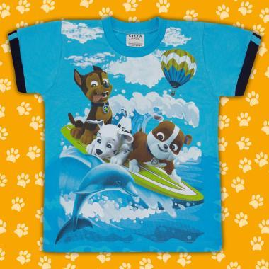 Тениска Пес Патрул наситено синьо