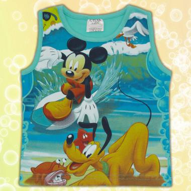 Тениска без ръкав Мики Маус в мента