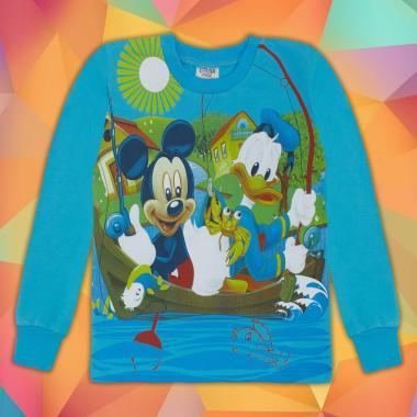 Блуза Мики Маус в наситено синьо