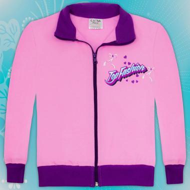 Суичър Top Fashion в розово и лилаво