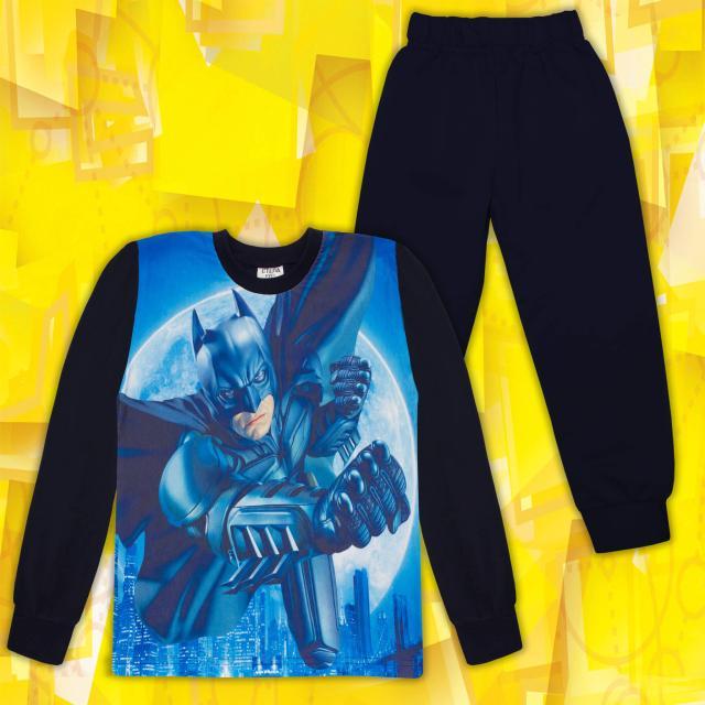 Комплект 2ч.(б/д) Супер Герой в тъмносиньо (дигитален печат)