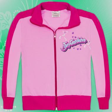 Суичър Top Fashion в розово и циклама