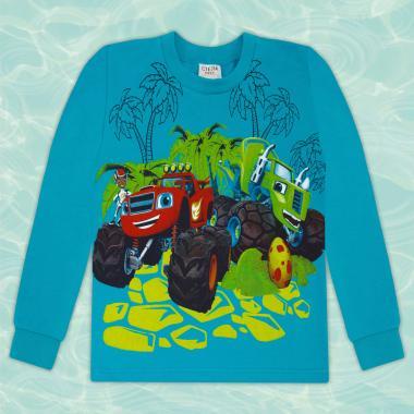 Блуза Пламъчко в морско синьо
