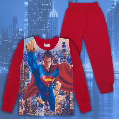 Комплект 2ч.(б/д) Супермен в червено (дигитален печат)