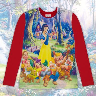 Блуза тънка с дълъг ръкав Снежанка в червено (дигитален печат)