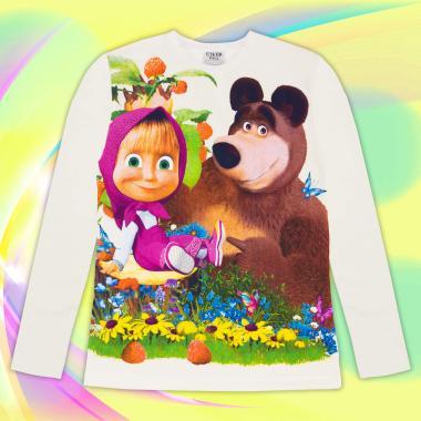 Блуза Маша и Мечока в екрю