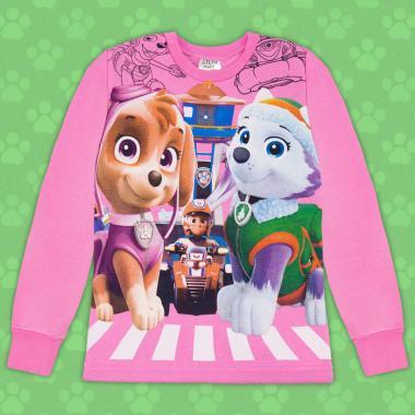 Блуза триконечна вата Скай и Еверест Пес Патрул в розово