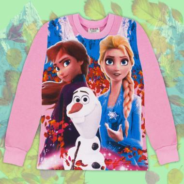 Блуза триконечна вата Замръзналото царство в розово