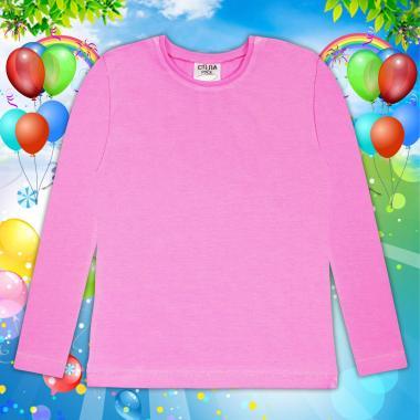 Блуза тънка с дълъг ръкав в розово