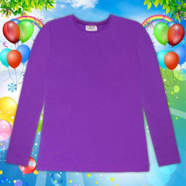 Блуза тънка с дълъг ръкав в тъмно лилаво