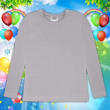Блуза тънка с дълъг ръкав в сиво