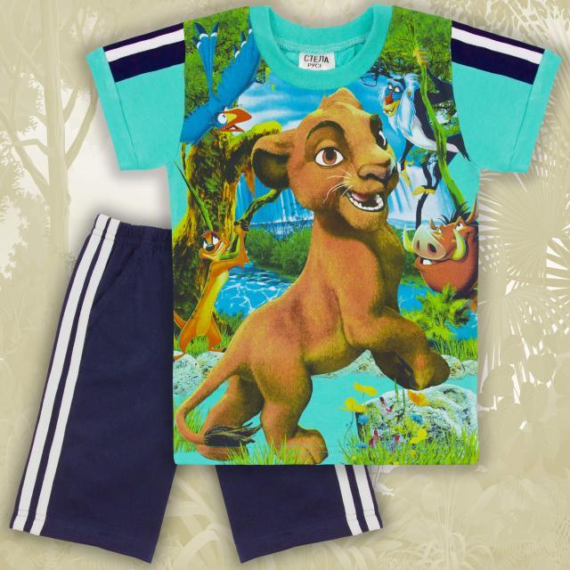 Комбинация тениска и бермуди Цар Лъв в мента