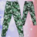 Клин панталон с дънков ефект в зелено