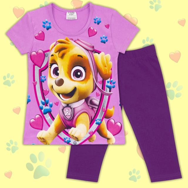 Комбинация блузка и клин куче в лилаво