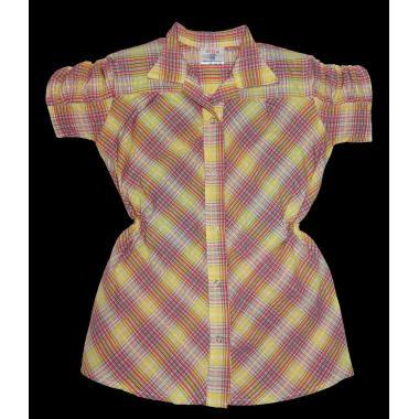 Риза каре с къс набран ръкав цвят К-59
