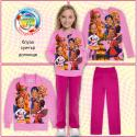 Комплект блуза с клин Понита в лилаво (дигитален печат)