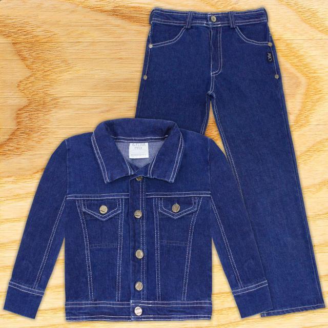 Комплект дънки и дънково яке