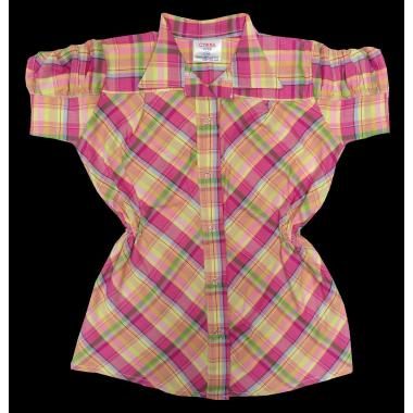 Риза каре с къс набран ръкав цвят К-53