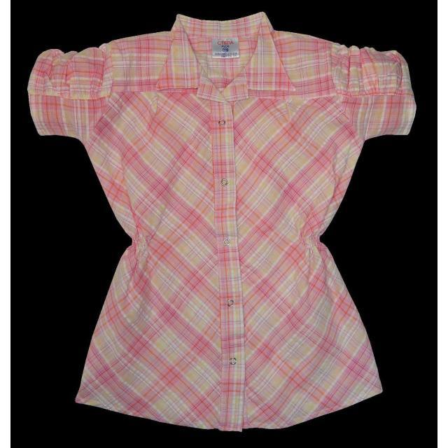 Риза каре с къс набран ръкав цвят К-60
