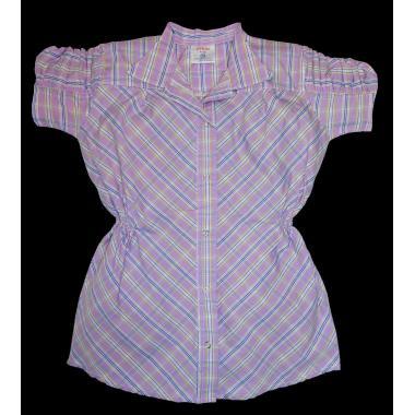 Риза каре с къс набран ръкав цвят К-54
