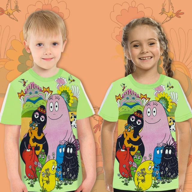 Тениска с Барбароните в резеда