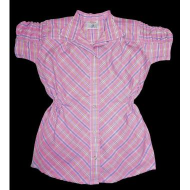 Риза каре с къс набран ръкав цвят К-55