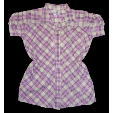 Риза каре с къс набран ръкав цвят К-57