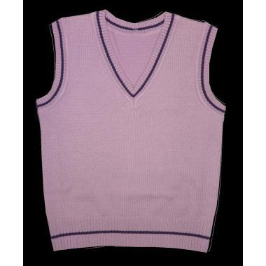 Пуловер без ръкав светло лилав